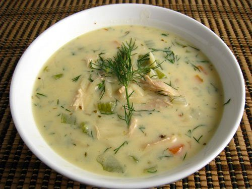 "Greek fish soup ""avgolemono"""