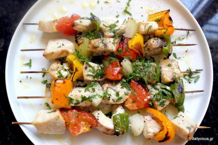 Ξιφίας Σουβλάκι με Λαχανικά