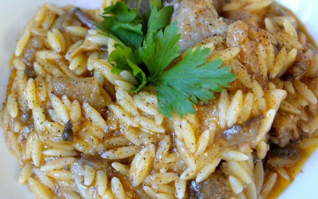 Greek Giouvetsi (chicken stew with orzo pasta)