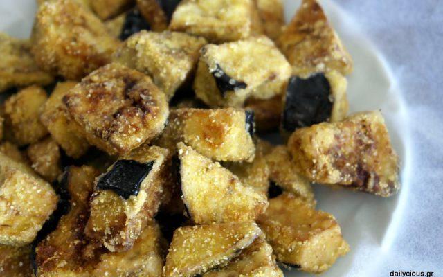 Μελιτζάνες τηγανητές (τραγανές)