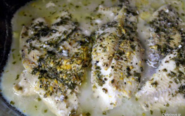Φιλέτα ψαριού στο φούρνο (ποσέ)