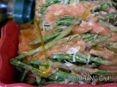 Ετοιμάζω φασολάκια γιαχνί στο φούρνο με φέτα