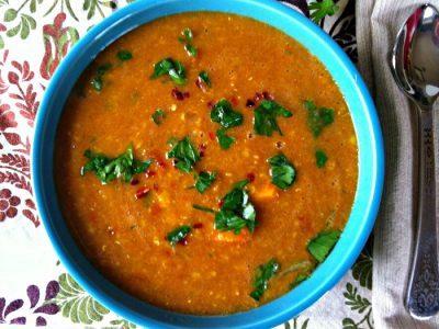 κόκκινες φακές σούπα