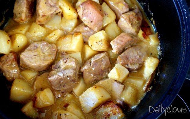 Χοιρινό στο φούρνο με κάρυ