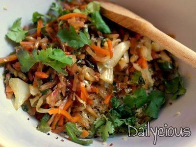 Ετοιμάζω κινόα με λαχανικά