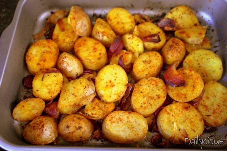 Τραγανές Πατάτες Φούρνου
