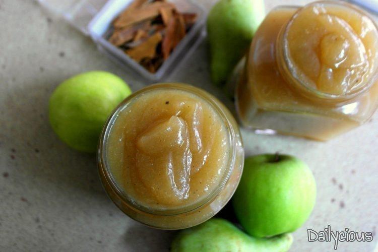 Μαρμελάδα μήλο, αχλάδι και κανέλα