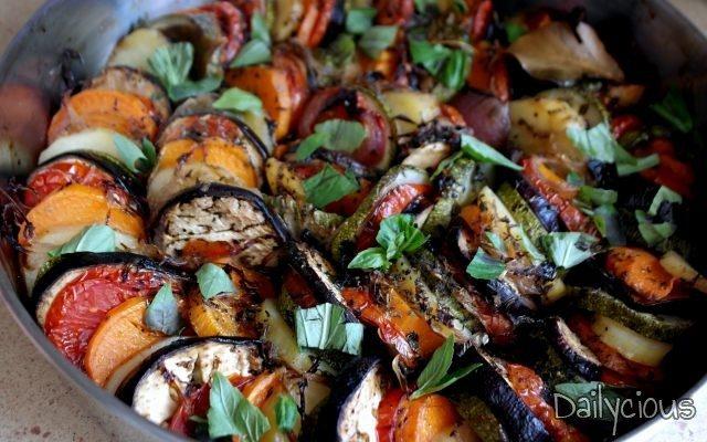 Ρατατούι, Λαχανικά στο Φούρνο (Ratatouille)