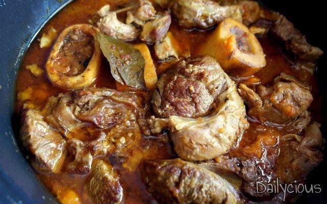 Οσομπούκο (ossobuco) με Λαχανικά