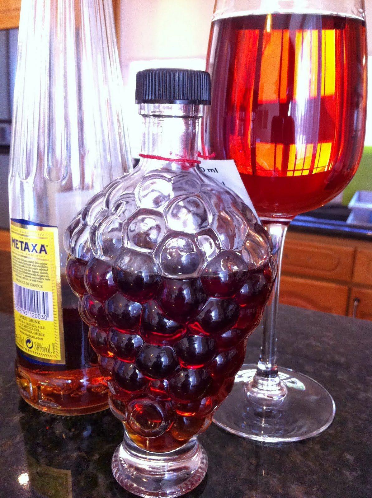 Το (γλυκό) κρασί και το κονιάκ.