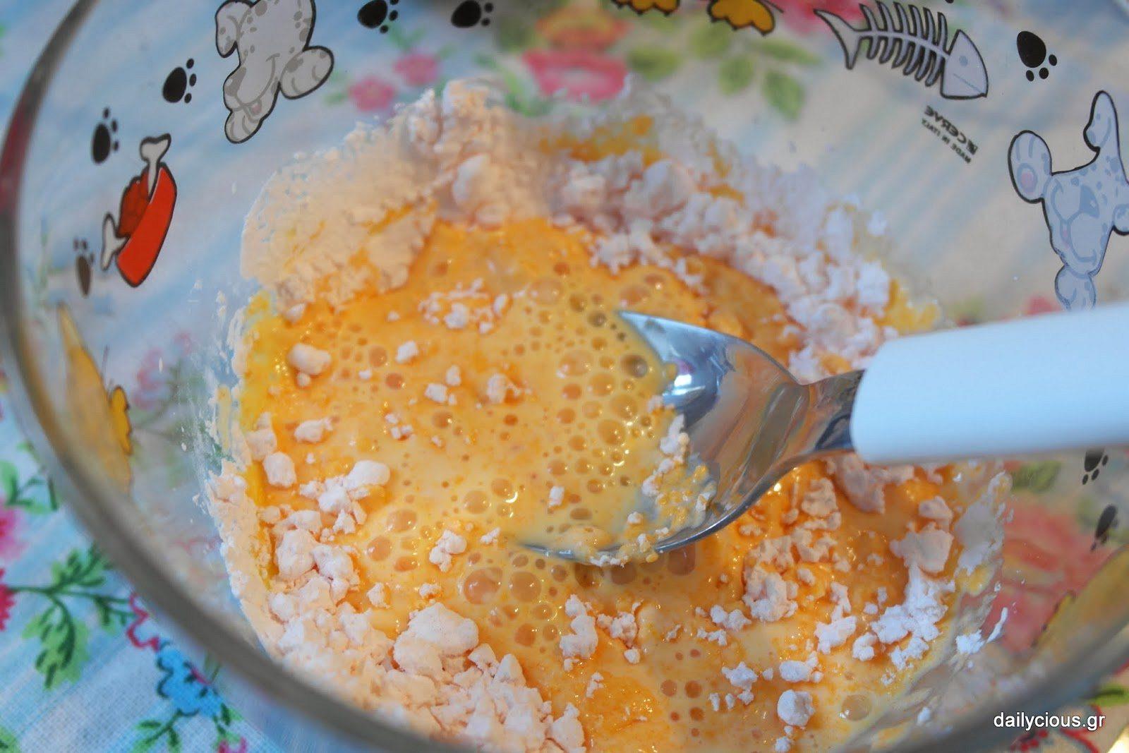Το άνθος αραβοσίτου με το γάλα.