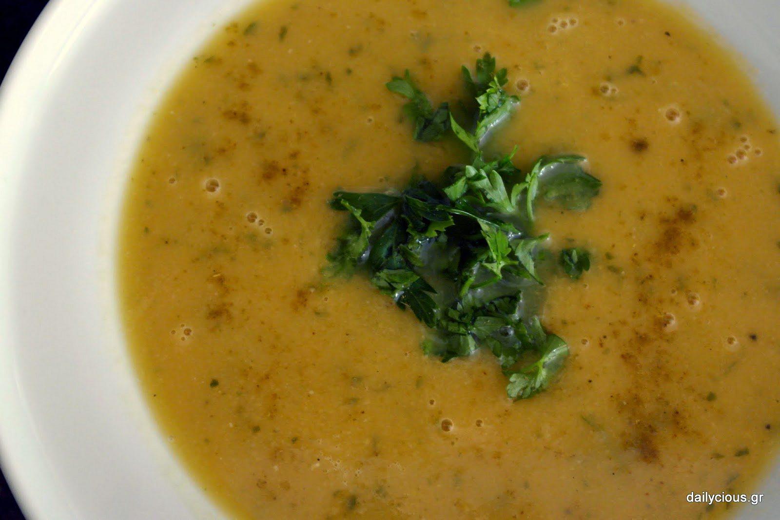 Σούπα με Λαχανικά, Κόκκινη Φακή και Αρωματικά