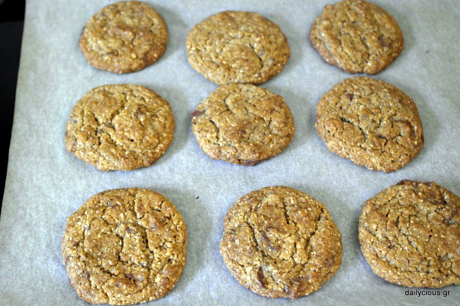 Μπισκότα με Βρώμη και Σοκολάτα (Cookies)