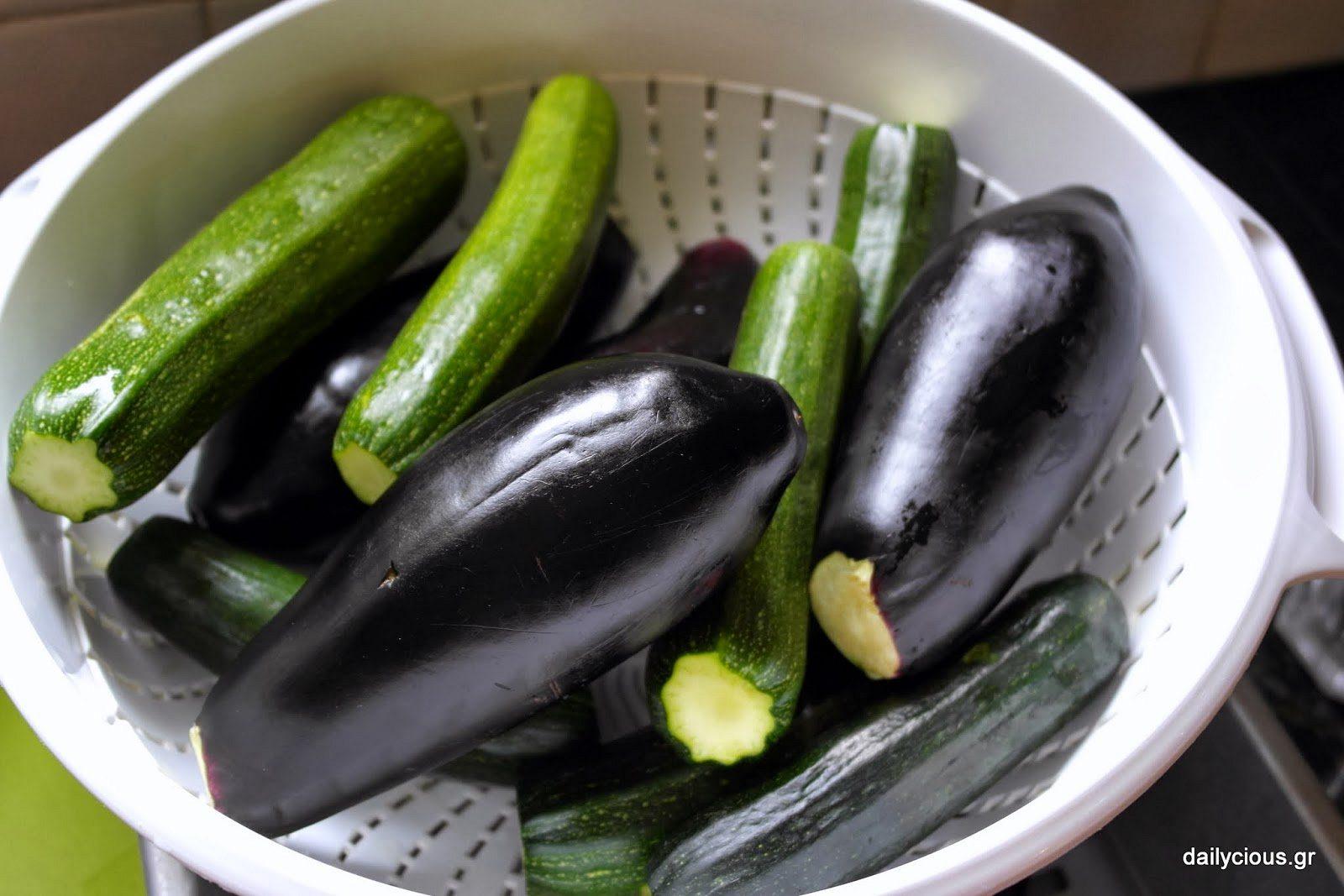 Τα λαχανικά πλυμμένα.