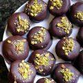 Κουραμπιέδες με σοκολάτα (επικάλυψη)
